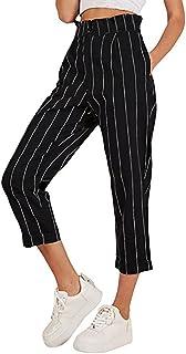 b8f82a6c37543d Amazon.fr : rayure|rayé - Pantalons / Femme : Vêtements
