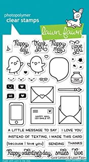 """Lawn Fawn Clear Stamps 4""""X6"""" - Love Letters (Pack of 1)"""
