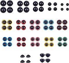 560pcs yeux et nez de s/écurit/é en plastique jouet yeux artisanat 170pcs oeil de s/écurit/é color/é de 6 /à 14 mm et nez de s/écurit/é 110pcs avec rondelle 280pcs jouets en peluche doux,animaux en peluche