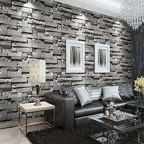 10m x 53cm Wallpaper Roll, Non-Woven 3D Flocking Embossed Luxury Wallpaper...