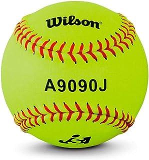 Wilson(ウイルソン) 革 ソフトボール 試合球 WTA9090J イエロー