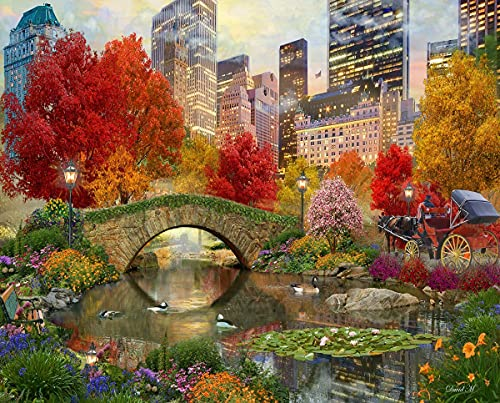 Springbok's 500 Piece Jigsaw Puzzle Central Park Paradise - Made in USA