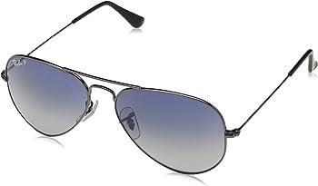 Ray Ban Aviator Gradient Blue Grey Gradient Polarized Unisex Sunglasses