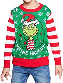 The Grinch Toddler Boys Dr. Seuss Christmas Holiday Sweater (Sizes 12M - 5T)