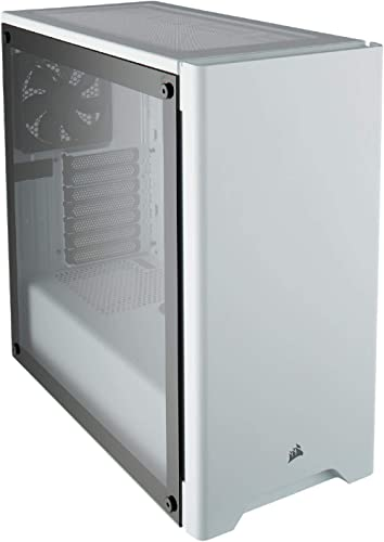Corsair Carbide 275R Mid-Tower PC Gaming Case, Tempered Glass - White
