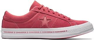 Converse One Star OX Premium Suede Fashion Sneaker (9 D US, Paradise Pink/Geranium Pink)