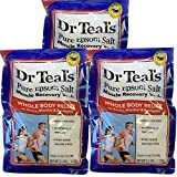 Dr. Teal's Epsom Salt - Muscle Recovery Soak - Whole Body Relief with Arnica, Menthol, Eucalyptus - 2.5lb Bag (Pack of 3)
