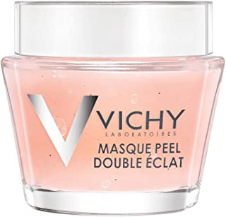 Vichy Mineral Double Glow Peel Face Mask, Oil-Free Mask to Exfoliate & Luminate Skin, Travel Size 0.5 Fl Oz