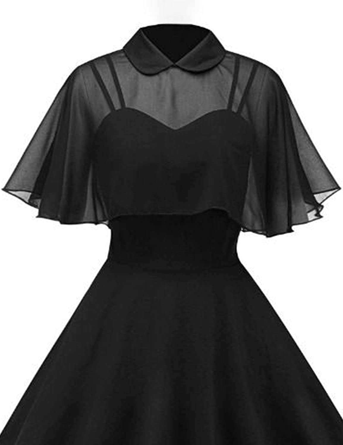 GownTown Womens 1950s Cloak Two-Piece Cocktail Dress