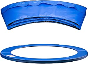 WSVULLD Vervanging Trampoline Surround Pad UV-bestendige PVC Top Epe Foam Safety Guard Spring Cover Padding Pads Blue, 8 F...