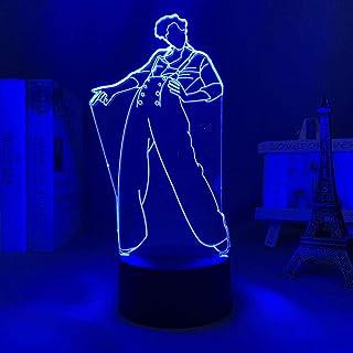 HOICHAN Lámpara de noche 3D de Harry Styles, regalo para fans de la habitación, luz LED, sensor táctil, cambio de color, lámpara de escritorio, lámpara de escritorio, regalo para mujer