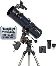 Celestron - AstroMaster 130EQ-MD Newtonian Telescope - Reflector Telescope for Beginners - Fully-Coated Glass Optics - Adjustable-Height Tripod - BONUS Astronomy Software Package