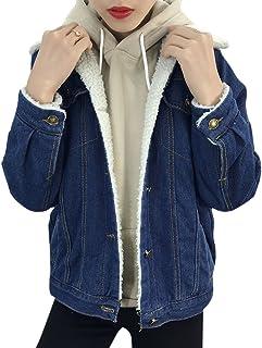 new product 185ba 017de Amazon.it: giacca jeans con pelliccia - Donna: Abbigliamento