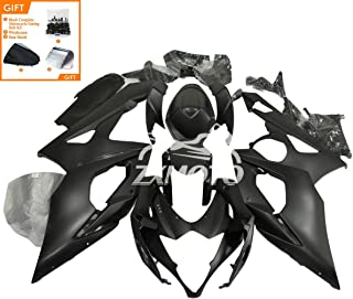 ZXMOTO Matte Black ABS Plastic Bodywork Fairing Kit For 2005 2006 Suzuki GSXR1000 K5