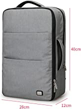 JYKJ Laptop Backpack, Outdoor Large Capacity Waterproof Backpack Student Bag With USB Charging Port 17 Inch Travel Backpack (Color : Gray)