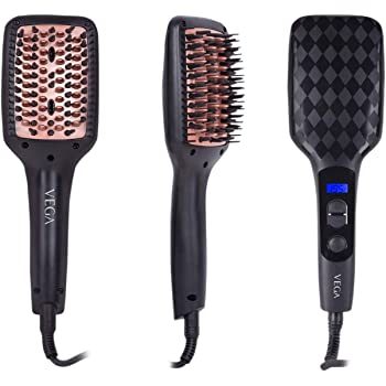 VEGA X-Look Hair Straightening Brush (VHSB-02), Black