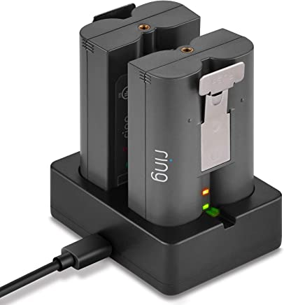 Ring Battery Charger, Dual Port Charging Station for Ring Spotlight Cam Battery, Ring Video Doorbell 2 & Ring Stick Up Cam Battery (Ring Batteries NOT Included) - by DECHIANY