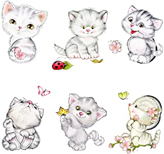 Cats Switch Wall Stickers Cup Computer Phone Decor DIY Home Living Room Bedroom Kitten Wall Mural Art Decoration