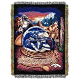 Officially Licensed NFL Denver Broncos 'Home Field Advantage' Woven Tapestry Throw Blanket, 48' x 60', Multi Color