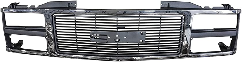 Grille Grill Chrome Front End for GMC C/K 1500 2500 3500 Suburban Yukon