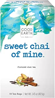 Sponsored Ad - Good Earth Chai Tea, Sweet Chai of Mine, 18 Count Tea Bags (Pack of 6) (Packaging May Vary)
