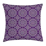 HOJJP Kissenbezüge Purple Mandala Dekokissen Kissenbezug, Klassischer Stil Victorian Swirled Floral...