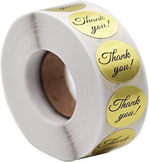 1000pcs 1'' Round Gold Thank You Stickers,Foil Thank You Labels Wedding Thank You Sticker