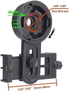 Universal Telescope Phone Mount, Binoculars Phone Mount for Photographing- Quick Set-up Smartphone Mount for Binoculars Monocular Spotting Scopes Telescopes Microscope