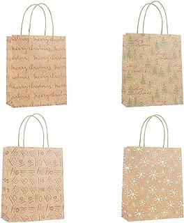 Shimigy 4 Pcs Bags Paper Bag Packaging Kraft Paper Bottom Tote Bag