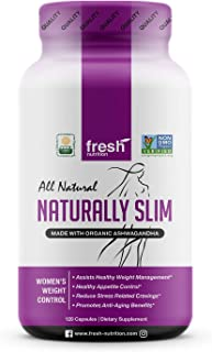 ORGANIC - Naturally Slim Womens Weight Loss Supplement and Fat Burner Pills - Best for Natural Weight Loss - CCOF Organic Certified - Non GMO - Vegan - Gluten Free - Made in the USA 120 Caps