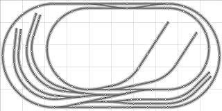 Train Layout #022 Bachmann HO EZ Track Nickel Silver - 5` X 10` - Train Set