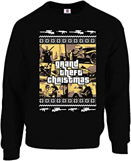 Graphic Impact Funny Inspired GTA Gaming Ugly Christmas Sweater Jumper Xmas