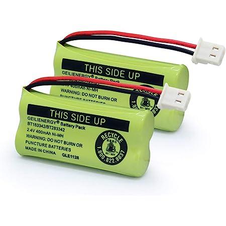 BAOBIAN BT166342 BT266342 Cordless Phone Battery Compatible with for AT/&T BT-166342 BT-266342 BT-162342 BT-262342 EL52300 CL80111 VTech BT-183342 BT-283342 CS6114 CS6419 CS6719 Pack of 4