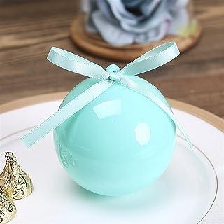Gift Box 20pcs / lot Blue Plastic Ball Candy Box Wedding Gift Box Packaging Plastic Bag Baby Shower Boy Boxing Birthday Pa...