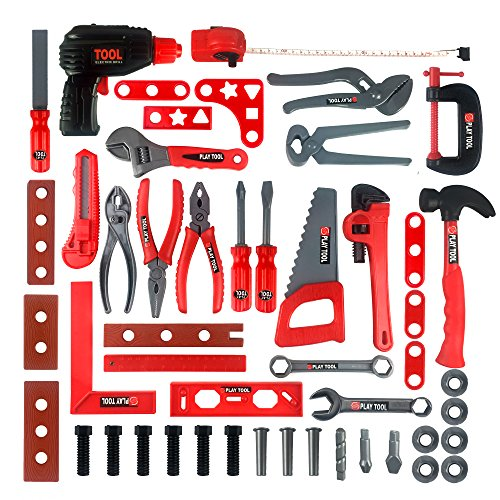 KIDAMI Deluxe 52 Piece Kids Toy Tool...