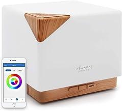 ASAKUKI Wi-Fi Smart Essential Oil Diffuser - Echo Alexa Control 700ml Ultrasonic Aromatherapy Fragrant Oil Humidifier for ...