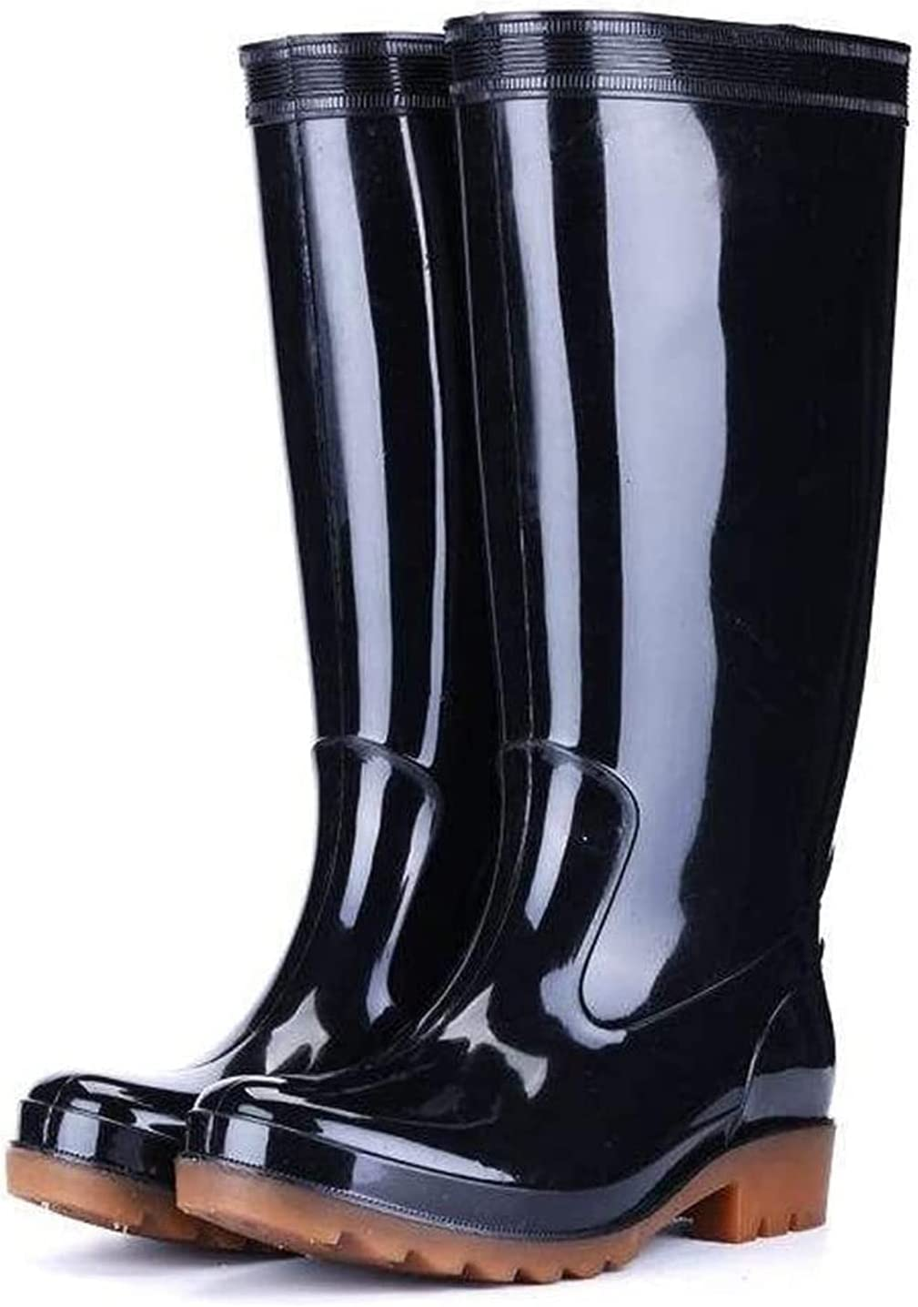 YUESFZ rain At the price of surprise Boots Men's Tall Rain Outdoor Work Black Tube Recommended