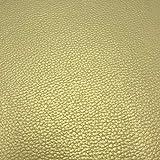 Kt KILOtela Tela de Polipiel para tapizar, Cojines, sillas, Asientos, Muebles - Tapicería skay - Retal de 50 cm Largo x 140 cm Ancho | Oro