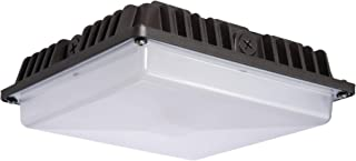Lumark CLCSLED-55-SM-UNV 56-Watt Bronze Outdoor Integrated LED Area 7,229 Lumens in Cool White Canopy Light,