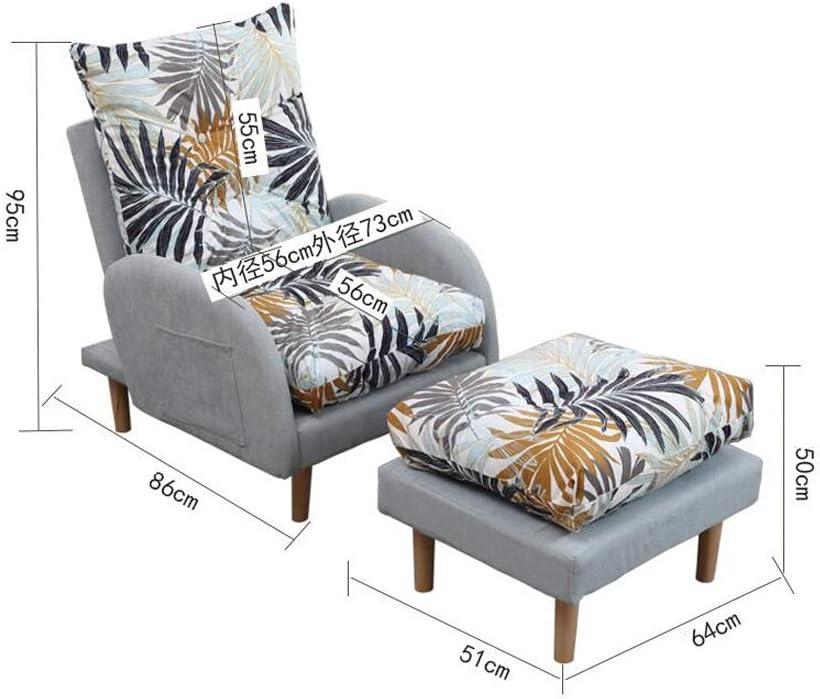 ZYLE Lazy Sofa, Petit Appartement Simple Canapé Chaise Balcon Chaise Longue Chambre Fauteuil Président (Color : F) D