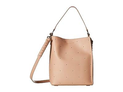 AllSaints Kathi Small North/South Tote (Nude/Pink) Handbags