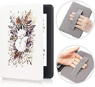 FANSONG Kindle Paperwhite 2018用ケース第10世代のケースハンドストラップホルダー付き、ウルトラスリム薄いですPCレザー耐衝撃性スマートするカバーオートスリープ/ウェイク6.0インチ
