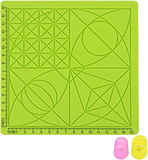 Yardwe 3D Printing Pen Silicone Mat Children Drawing Template Pad with 2 PCS Random Color Finger Covers - Type C (Green)