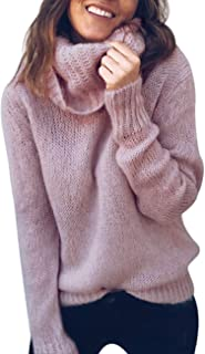 ZHENWEI Sweaters for Women Plus Size Turtleneck Long Sleeve Soft Knitted Pullover Jumper Tops
