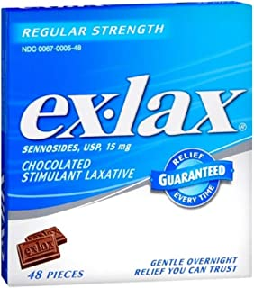 Ex-Lax Stimulant Laxative, Chocolated, Regular Strength, 15