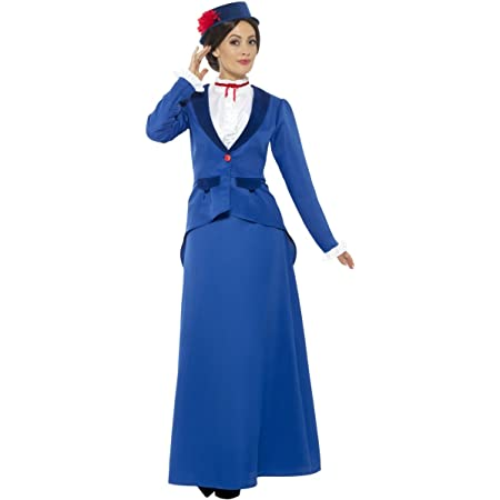 ADULTS LADIES VICTORIAN NANNY HAT BOW GLOVES WORLD BOOK DAY FANCY DRESS COSTUME