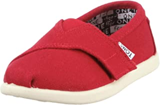 Toms Tiny Classic Canvas Slip-on Red