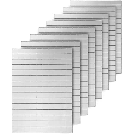 600 Silver Self-Adhesive Mirror Mosaic Tiles Mirror Tiling Xmas DIY Decoration