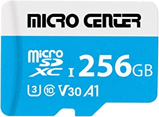 $27 » Micro Center Premium 256GB microSDXC Card UHS-I Flash Memory Card C10 U3 V30 4K UHD Video A1 Micro SD Card with Adapter (2...