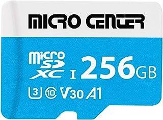 $27 » Micro Center Premium 256GB microSDXC Card UHS-I Flash Memory Card C10 U3 V30 4K UHD Video A1 Micro SD Card with Adapter (2...